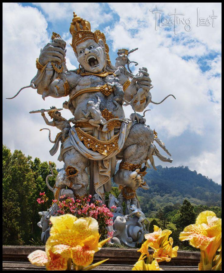 Kumbakarna Laga statue in Eka Karya Botanical Garden, Bedugul, Bali