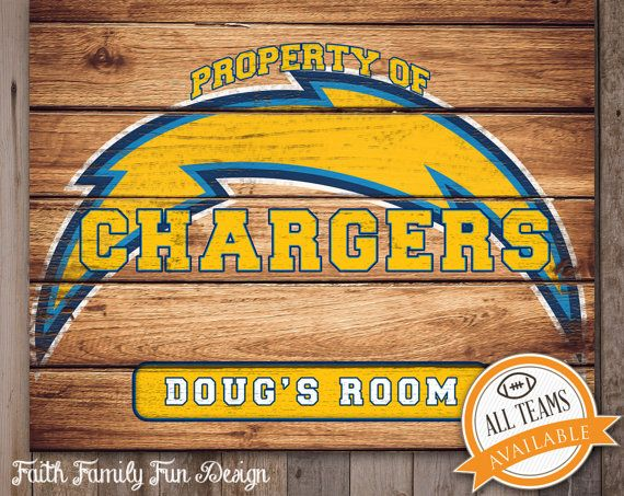 26 best personalized nfl signs images on pinterest football gift nfl san diego chargers team sign printable personalized man cave teen room negle Images