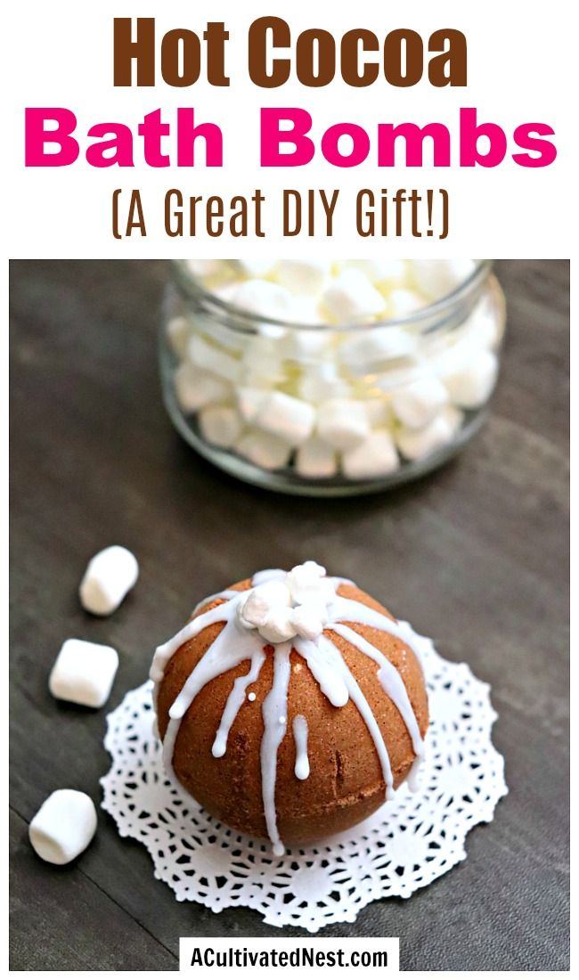 DIY Hot Cocoa Bath Bombs Mason jar diy, Bath bombs