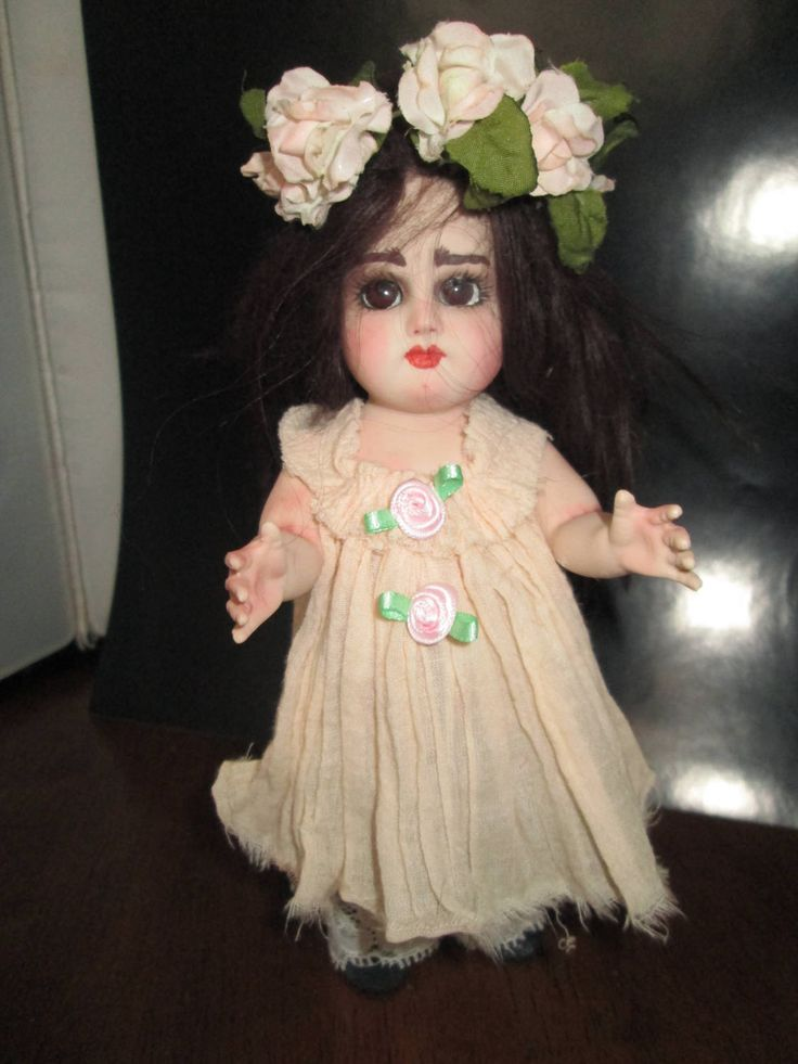 artist made porcelian collector doll by ooakfairyandmore on Etsy