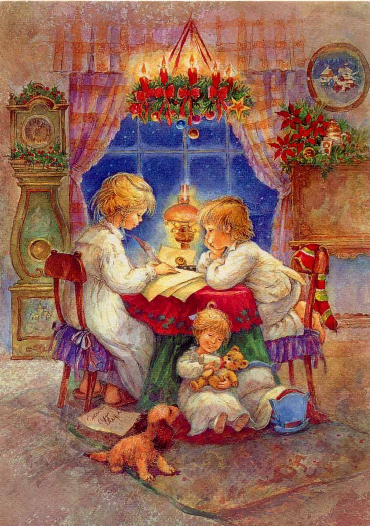 Открытки теме рождество