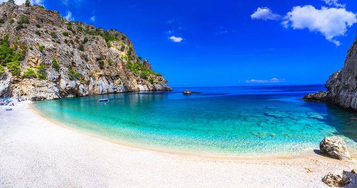 Take a dip on the stunning Achata beach on Karpathos