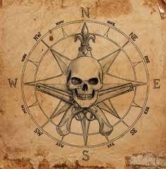 Pirate Compass symbol by dashinvaine on deviantART