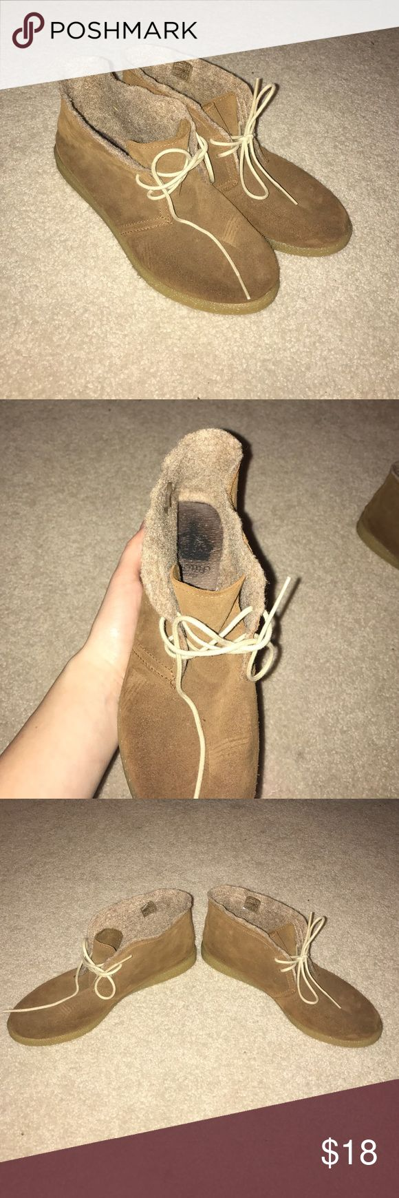 Sneakers Brown felt sneakers/slippers. Not completely sure on the size but I am an 8/8-1/2 and they fit perfectly. Worn a couple times. In awesome condition. Tilly's Shoes Moccasins