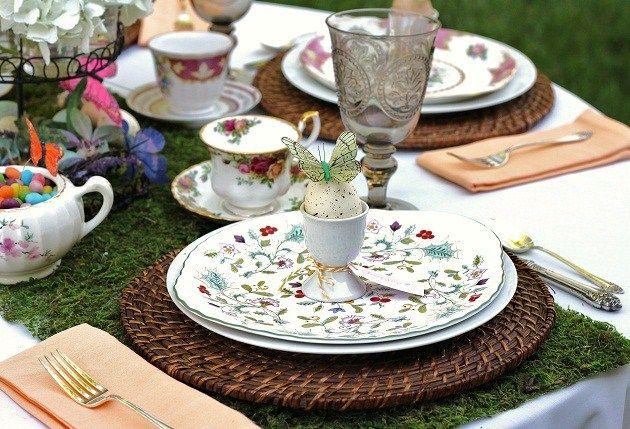 Spring Garden Tablescape — Celebrations at Home