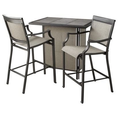 Threshold Harriet 3-Piece Sling Patio Bar Set with All-weather, Waterproof  Fabric - 25+ Best Ideas About Patio Bar Set On Pinterest Man Cave Diy Bar