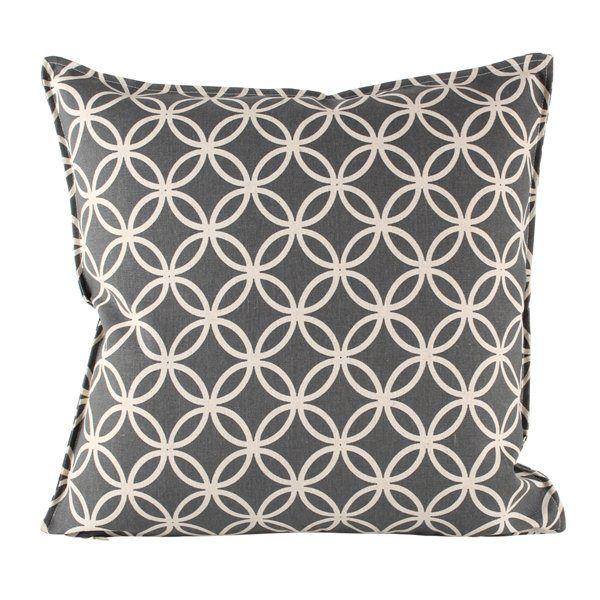 HICKS and HICKS Grey Circle print cushion - Hicks & Hicks