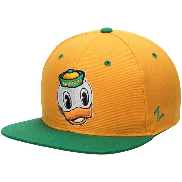 Oregon Ducks Zephyr Z11 Snapback Adjustable Hat - Yellow/Green - $27.99