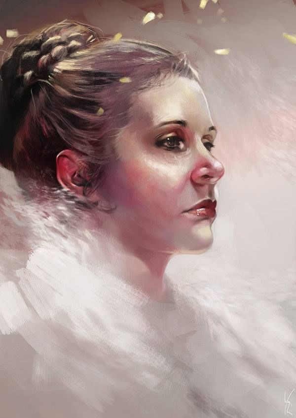 "theamazingdigitalart: ""Leia Organa by kittrose"" 