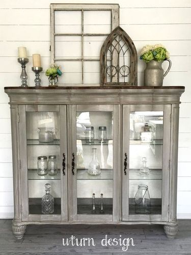 Any Ideas For Use Of Top Half Of Glass Door China Cabinet