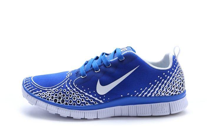 Miglior Nike Free Run 5.0 V4 Uomini Scarpe Blu Argento Online