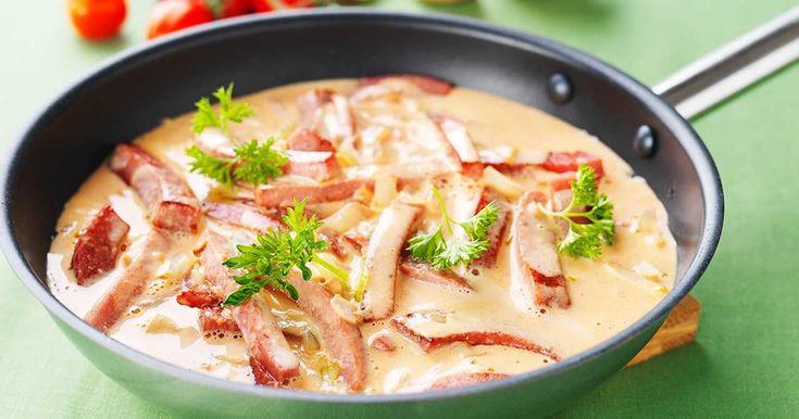 Chorizo korv stroganoff