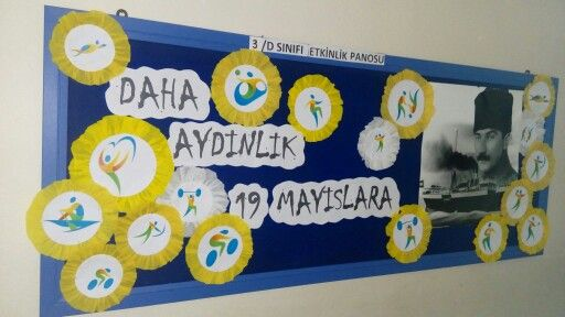 #bilge# 19 mayıs panosu. oğlumun sınıfı için çalışmam 2016