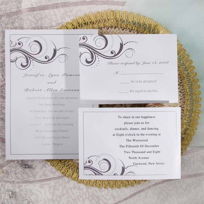 simple white and grey inexpensive printable wedding