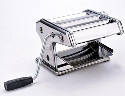 "7"" Manual Stainless Steel Fresh Pasta Maker Roller Machine for Spaghetti Noodle Fettuccine"