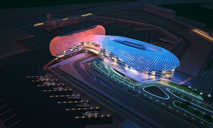 Abu Dhabi Yas Island Marina Grand Prix circuit