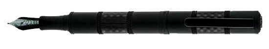Monteverde Regatta Sport Fountain Pen - Black Carbon Fiber - Broad Point