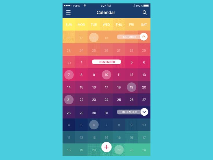 Calendar App Animation by Kirill for Tubik Studio