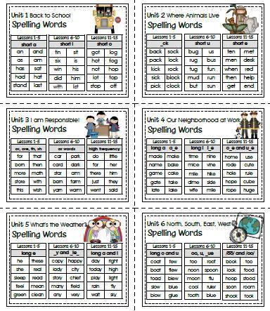 Sailing Through 1st Grade: Open Court Imagine It! Spelling Words for 1st Grade