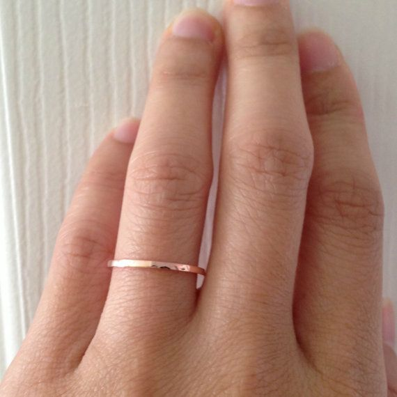 14K Solid Rose Gold Wedding Band Polished Flat By 360JewelsElite 14900