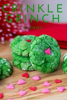 Crinkle Grinch Cookies http://xoxoBella.com