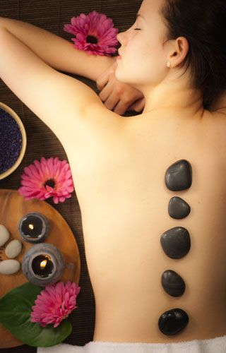 Massage  Wellness - Hot Stone Massage. You can always experience one at ESTHEVA Spa, one of Singapore's top luxury day spa for ladies and couples. www.estheva.com