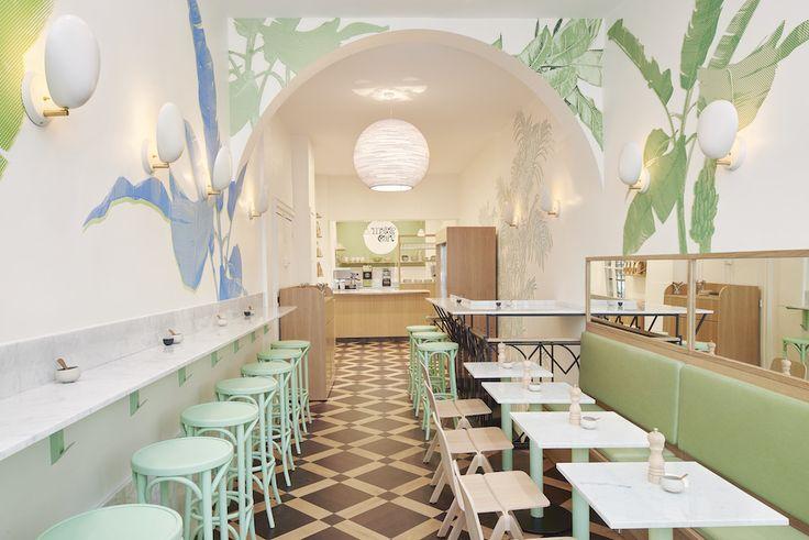 Le Maisie Café | MilK decoration and TON barstool 73 inside