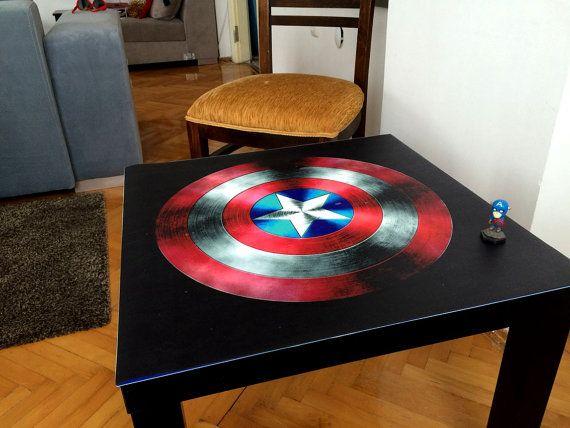 Captain Amerika Sheild Coffee Table / Superhero Coffee Table