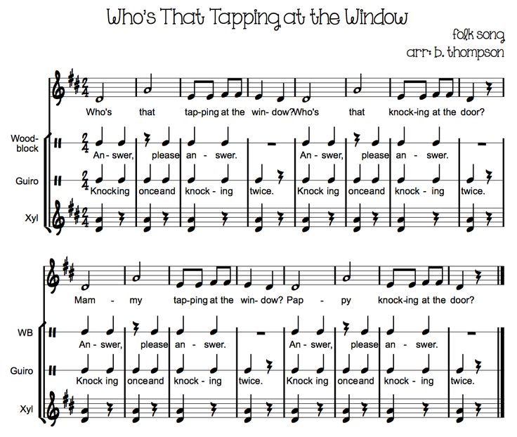 Who's That Tapping at the Window- Orff arrangement