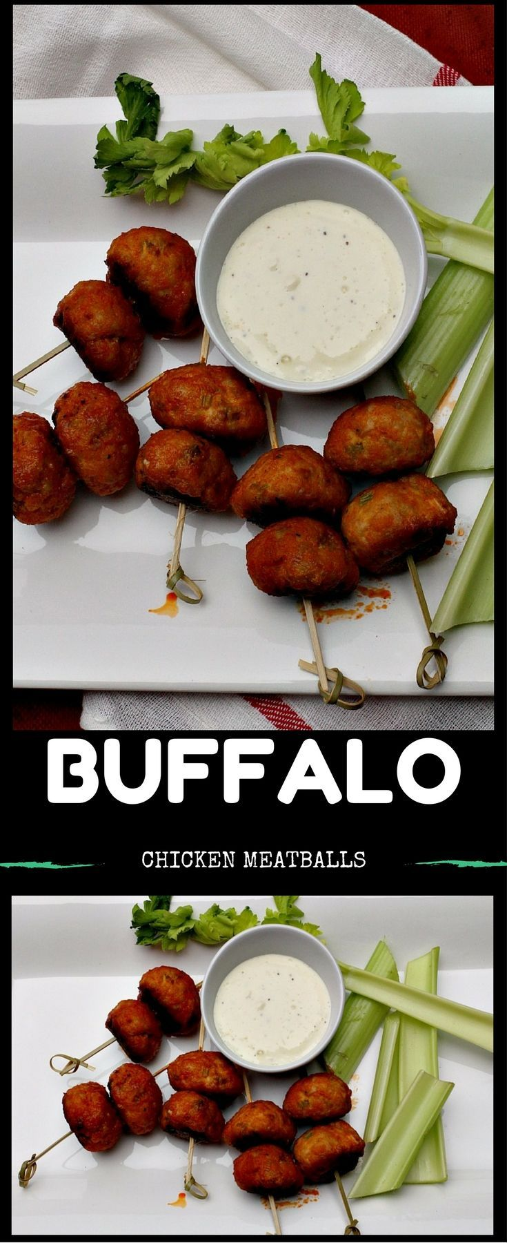 You can wear your white jeans with this one. Chicken wings without the mess. Chicken meatballs glazed in your favorite Buffalo Hot Wing Sauce. Easy chicken meatball recipe and fabulous chicken appetizer. Football and tailgating friendly.