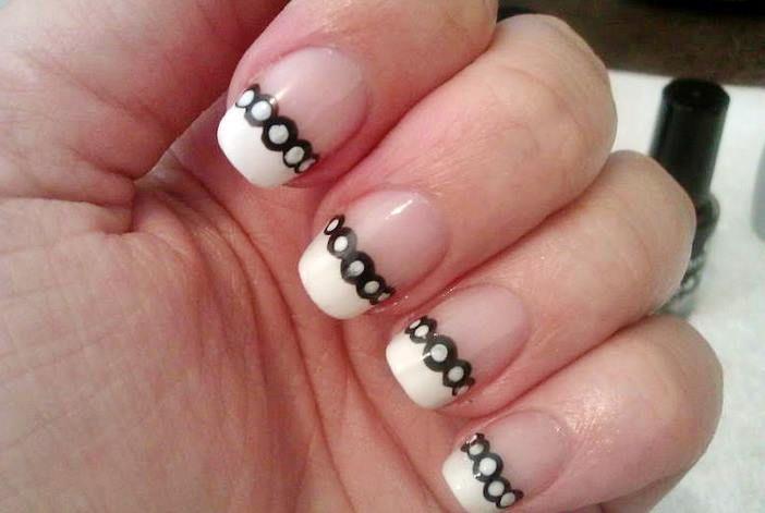 French White Tip Nail Designs Wallpaper