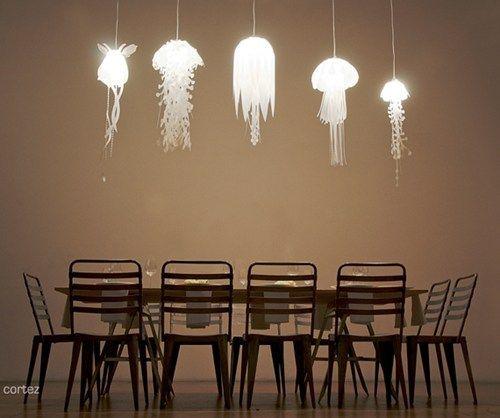 Jellyfish lamps!