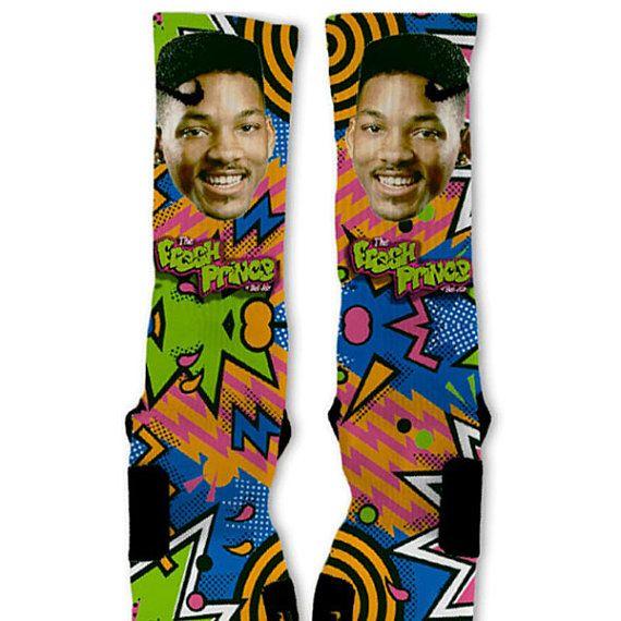 Fresh Prince Fast Shipping!! Nike Elite Socks Customized on Etsy, $29.00