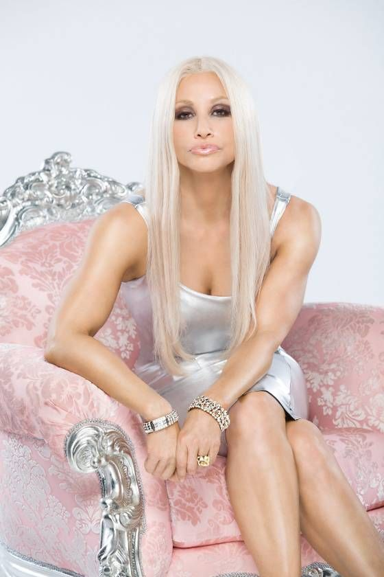 Gina Gershon as Donatella Versace in new Lifetime movie.