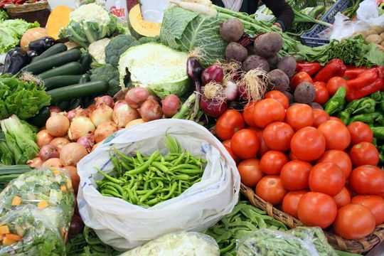 Fresh fruits and vegetables are a staple of the Mediterranean Diet in Spain.