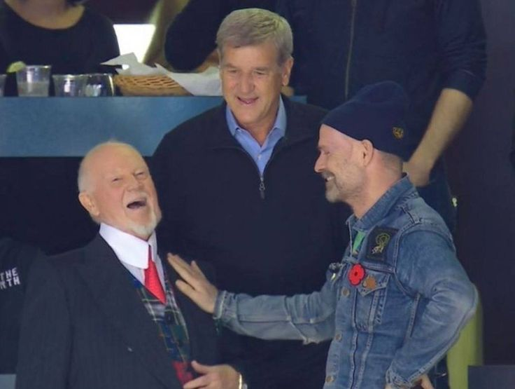 Don Cherry, Bobby Orr and Gord Downie from Tragically Hip. Doesn't get much more Canadian than that!