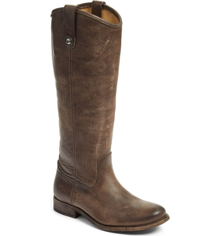Frye 'Melissa Button' Leather Riding Boot in Slate (Women)