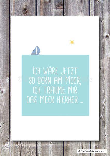 Druck/Wandbild/Print:+Meeresträume+-+Deko+von+Die+Persönliche+Note+auf+DaWanda.com