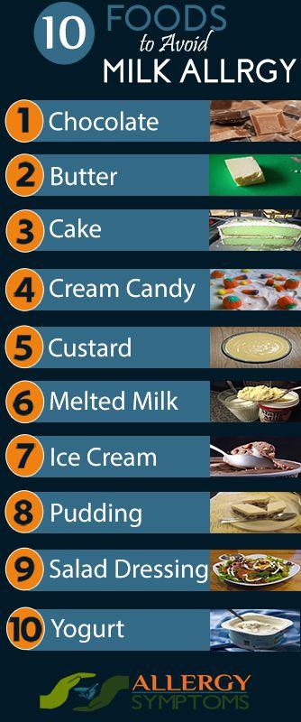 Milk Allergy  - Food to Avoid http://allergy-symptoms.org/milk-allergy-foods-to-avoid/