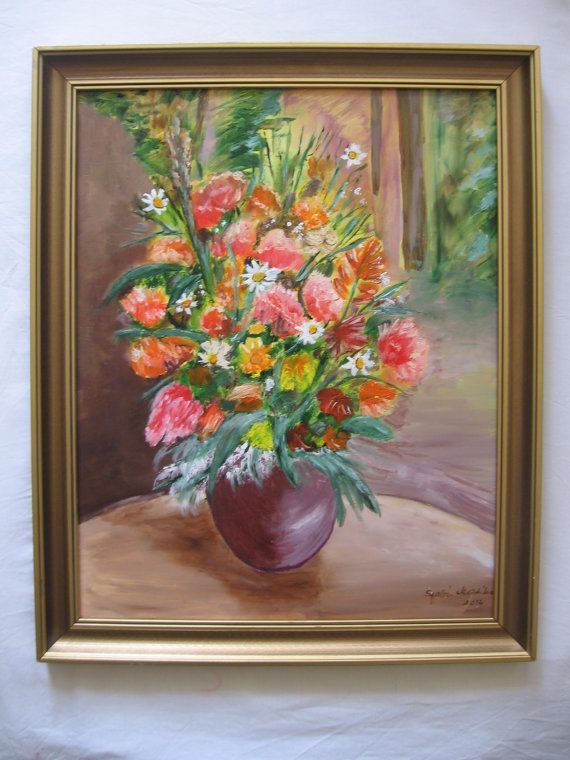 Hey, I found this really awesome Etsy listing at https://www.etsy.com/listing/221389855/oil-painting-flowers-on-wood-fiber-196-x