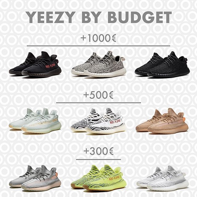 The Yeezy 350 collection prices ranges