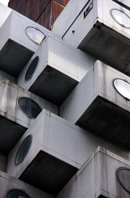 Nakagin Tower, Tokyo, Japan by Kisho KUROKAWA