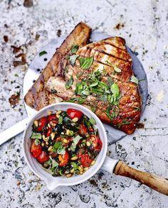 Espadon grillé, « sauce » aux tomates-cerises et câpres pour 4 personnes - Recettes Elle à Table