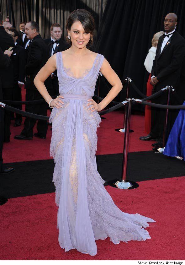 One of my favorite red carpet dresses ever- Mila Kunis in Elie Saab.: Eliesaab, Girls Crushes, Elie Saab, Mila Kunis, Red Carpets Looks, Academy Awards, The Dresses, Oscars Dresses, Red Carpets Dresses