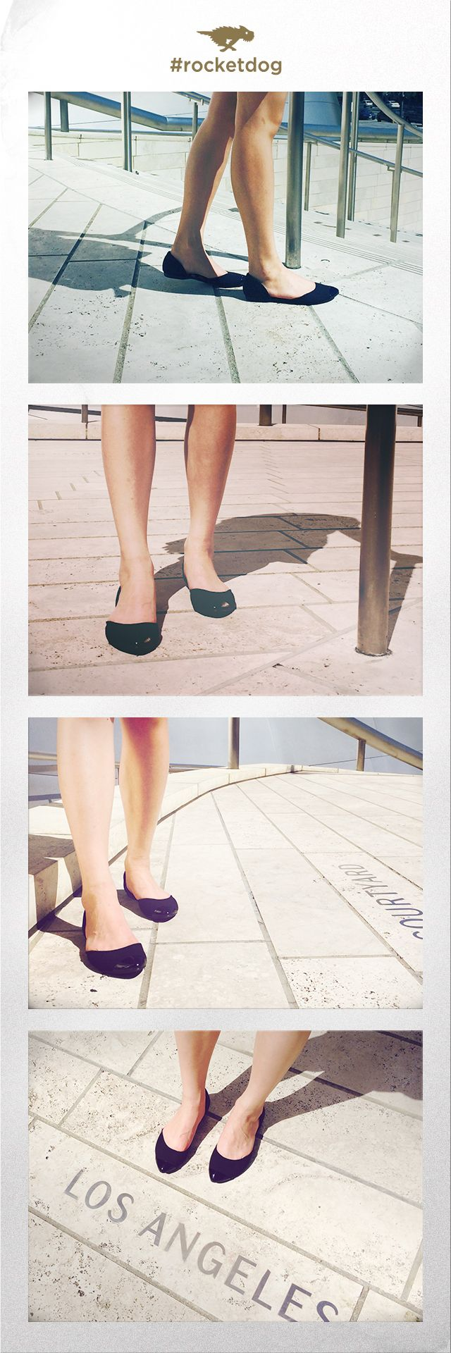 Seeing the sights in Los Angeles with Rocket Dog Cyprus Canvas flats in black.