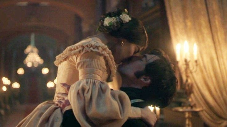 Jenna Coleman as Queen Victoria and Tom Hughes as Prince Albert in ITV's Victoria