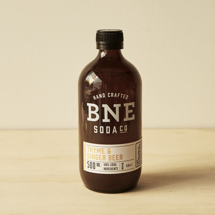 BNE Soda Co. Thyme And Ginger Beer