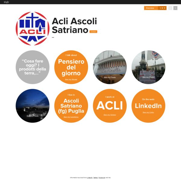 Graphical bio: Acli Ascoli Satriano