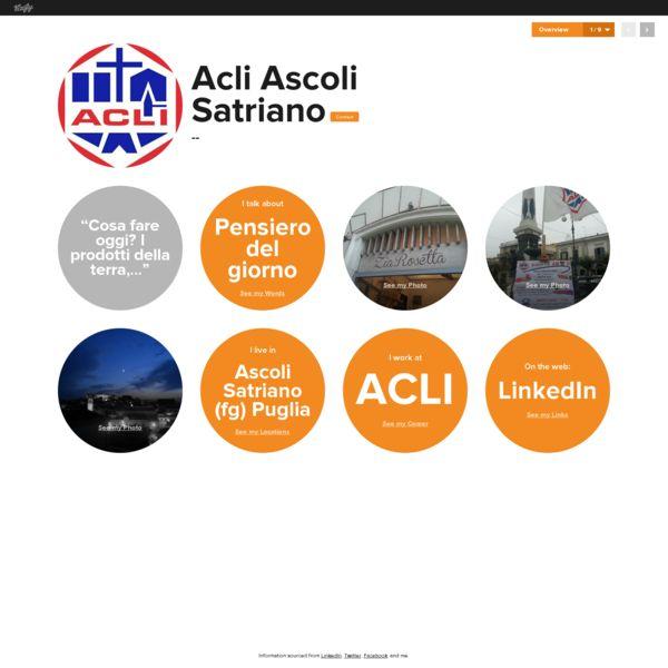 Graphical bio: Acli Ascoli Satriano