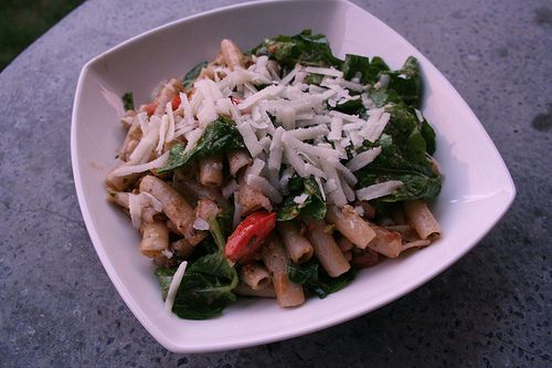 Penne with Pistachio Pesto, White Beans and Arugula